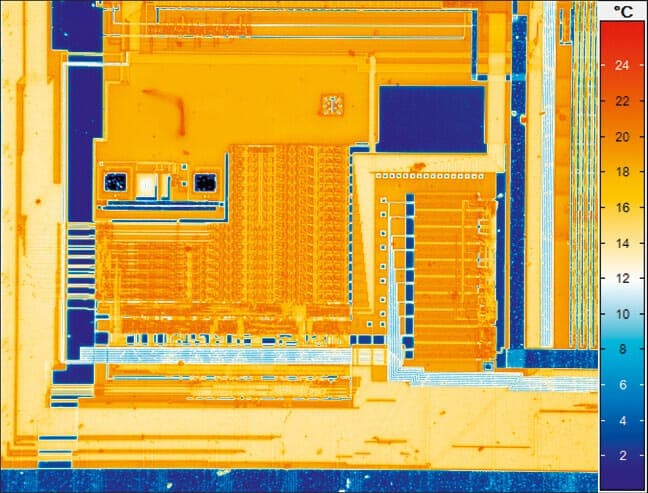 thermal imaging of a circuit board