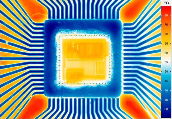 thermal imaging of a processor