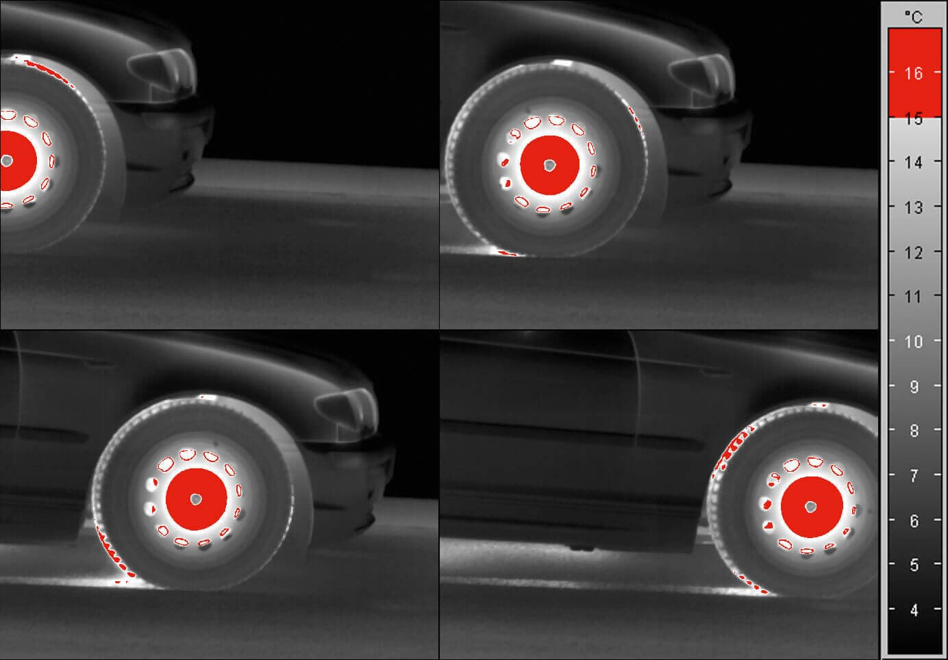ABS brake test - Recording with high-speed camera