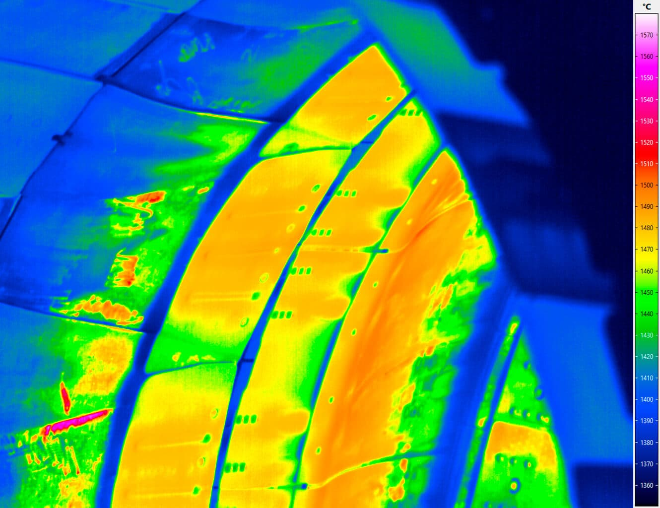 Spectral thermography - Applied combustion