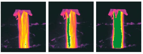 Slag detection with thermal imaging