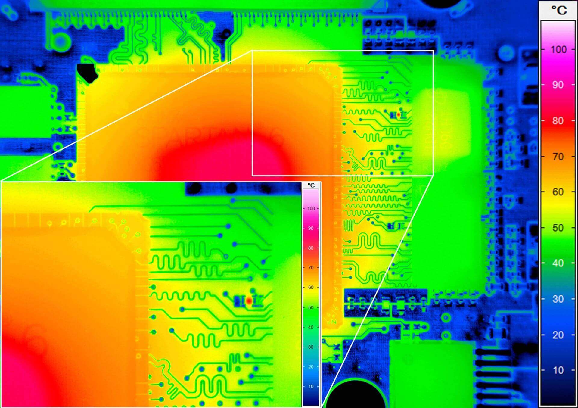 Micro-thermography with detailed image