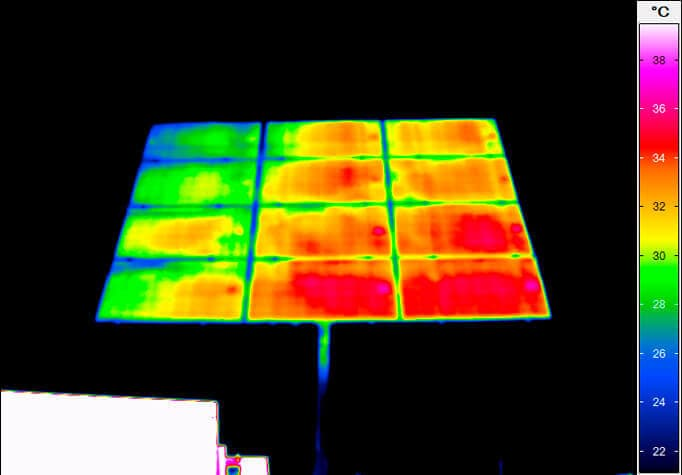 thermal imaging of a photovoltaic small plant