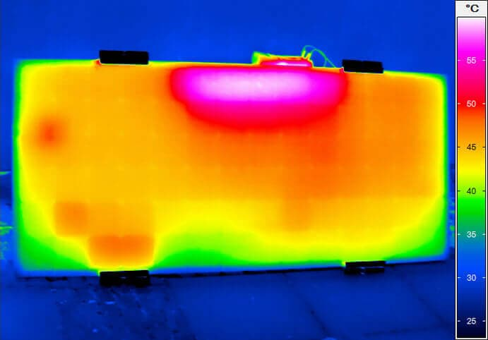 thermal imaging of a solar module