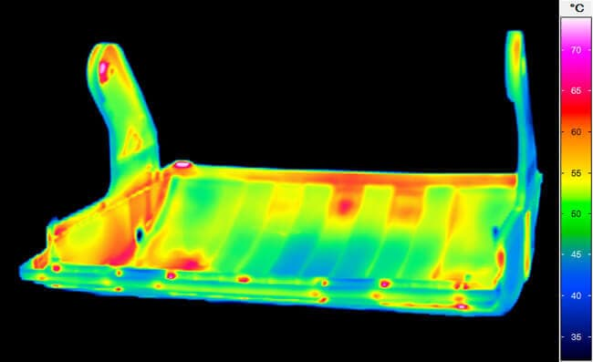 Thermal image of a plastic cover