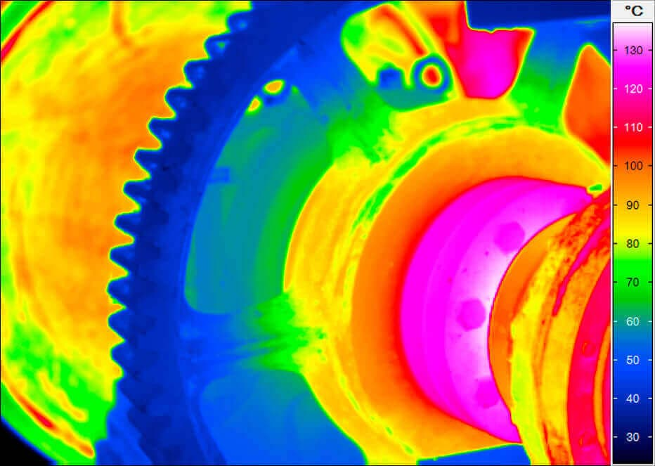 thermal imaging of a mount