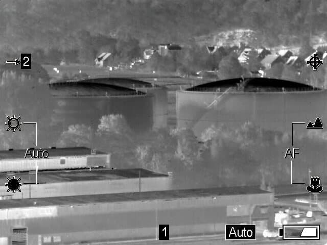 Surveillance of a fuel depot