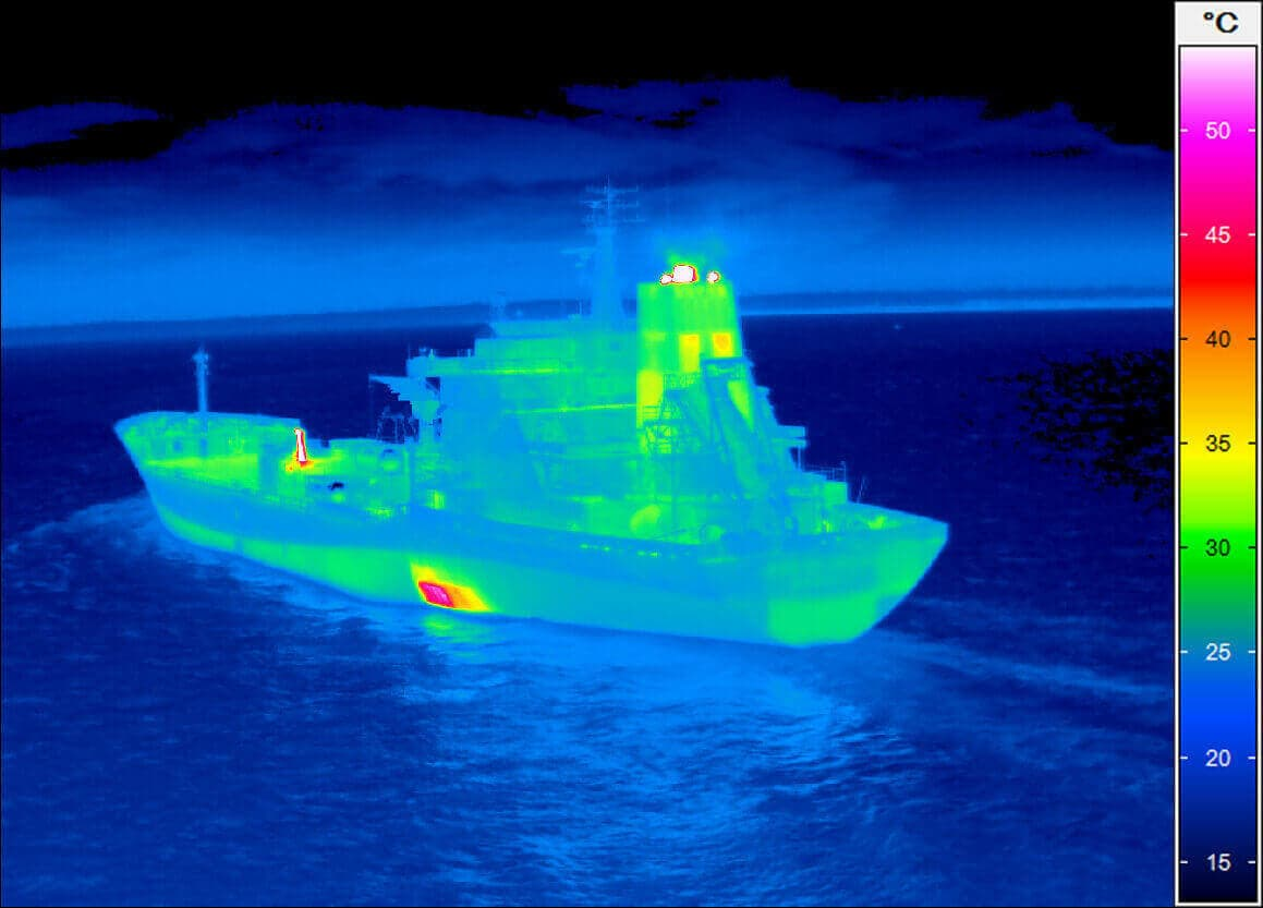 thermal imaging of a coaster