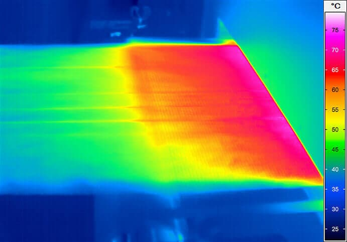 Spectral infrared thermal imaging to monitor the film production