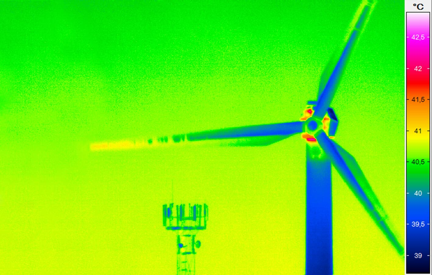 Thermal optimisation of a wind turbine
