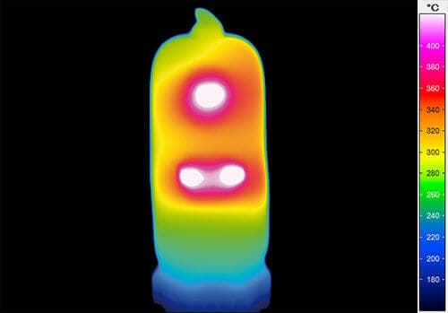 On-glass measurement with infrared thermal imaging