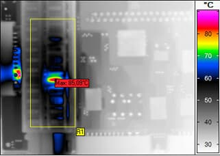 Thermal image of fuse block