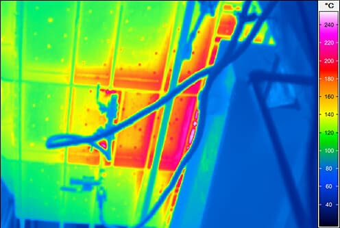 Thermal image of aluminium kiln