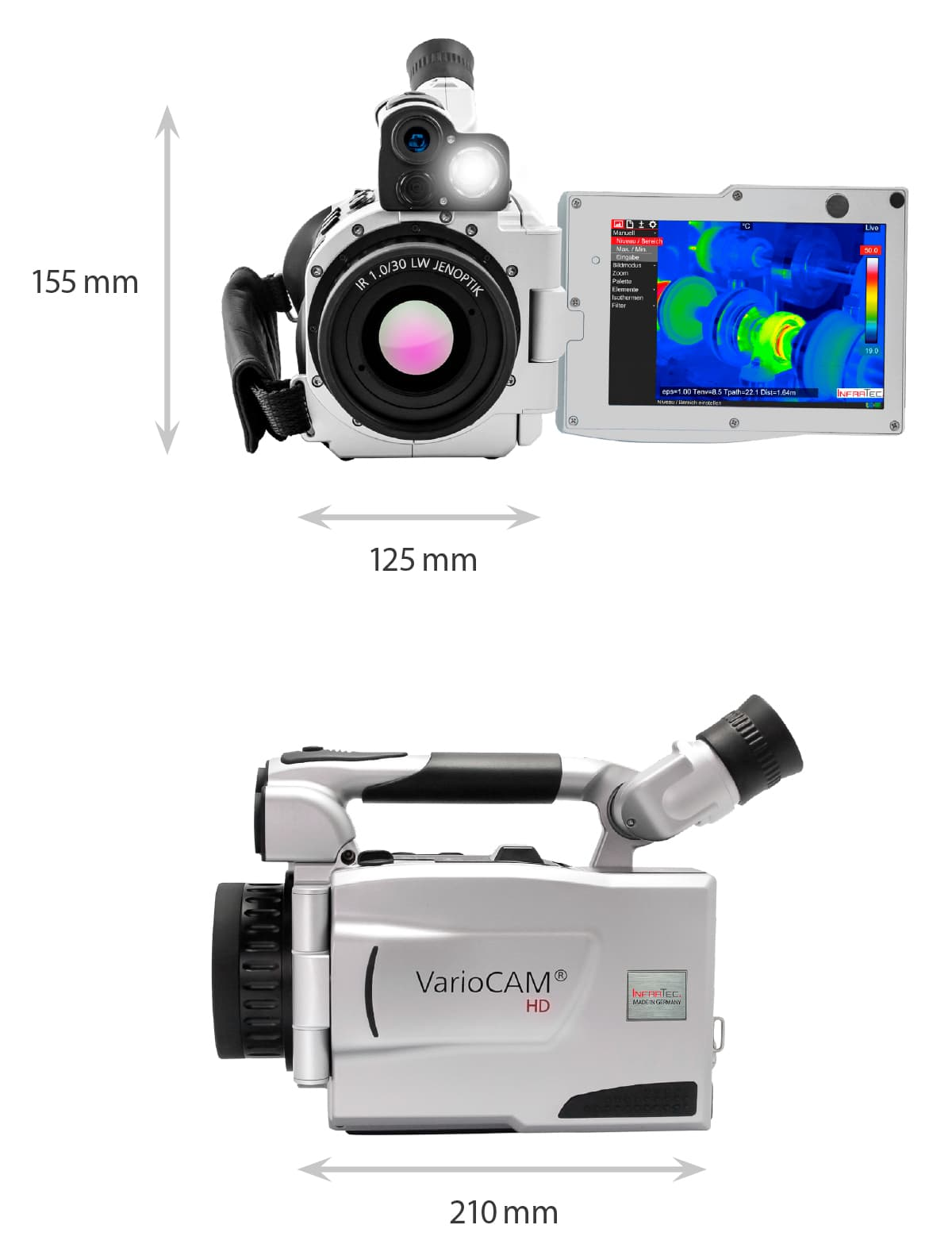 Dimensions of the VarioCAM HD