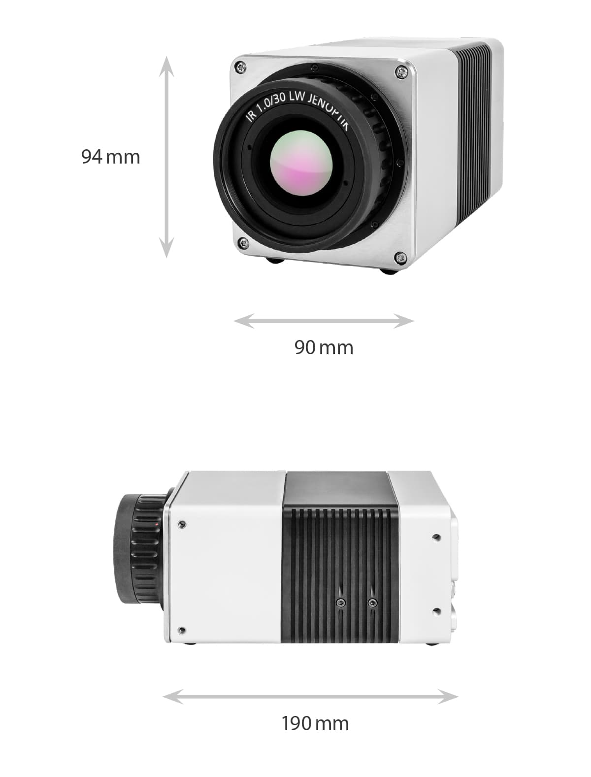 Dimensions of the VarioCAM HD head