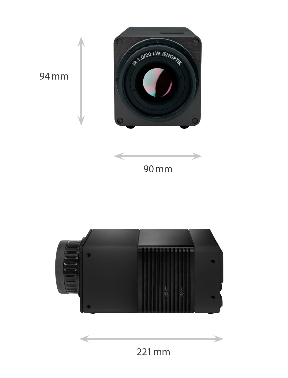 Dimensions of the VarioCAM HDx head