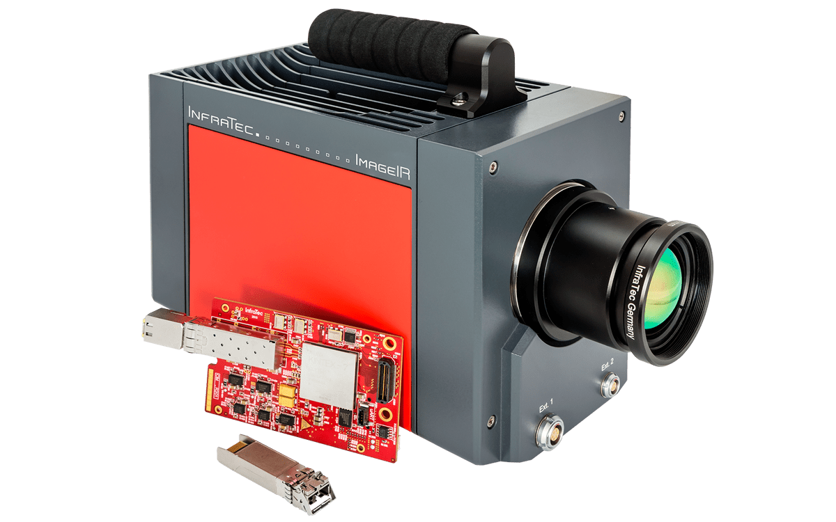 Thermographic camera series ImageIR® with new 10 GigE interface