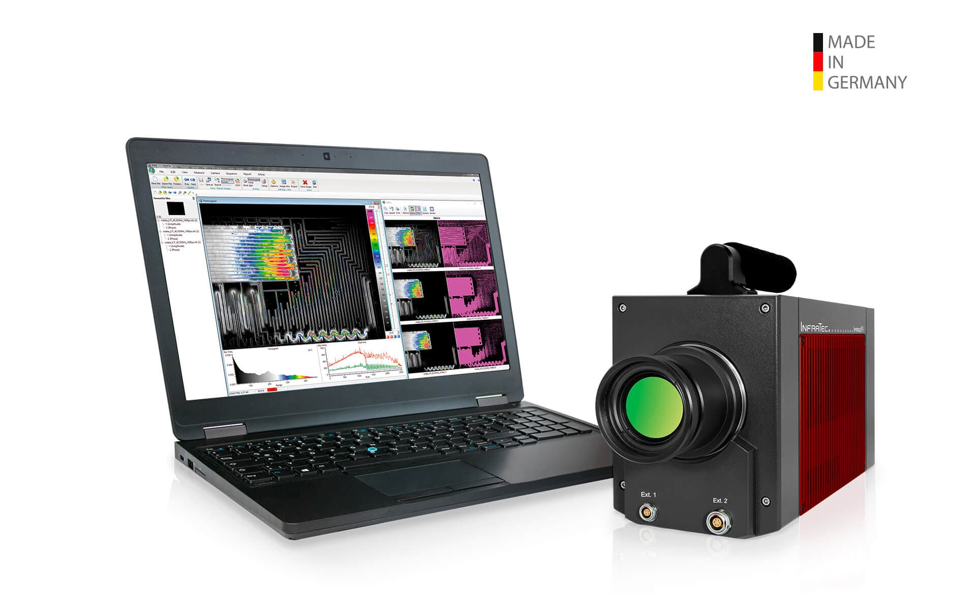 Infrared camera ImageIR® 9400 with interchangeable lenses from InfraTec