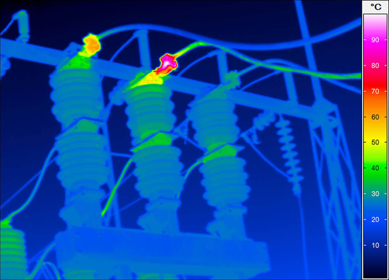 Thermal image of a transformer