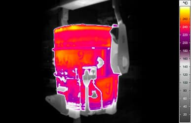 Ladle hot spot detection with thermal imaging LHSD