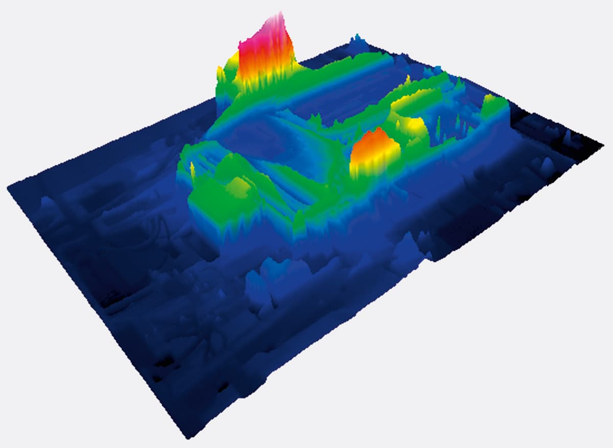 Thermographic Software 3D-profile