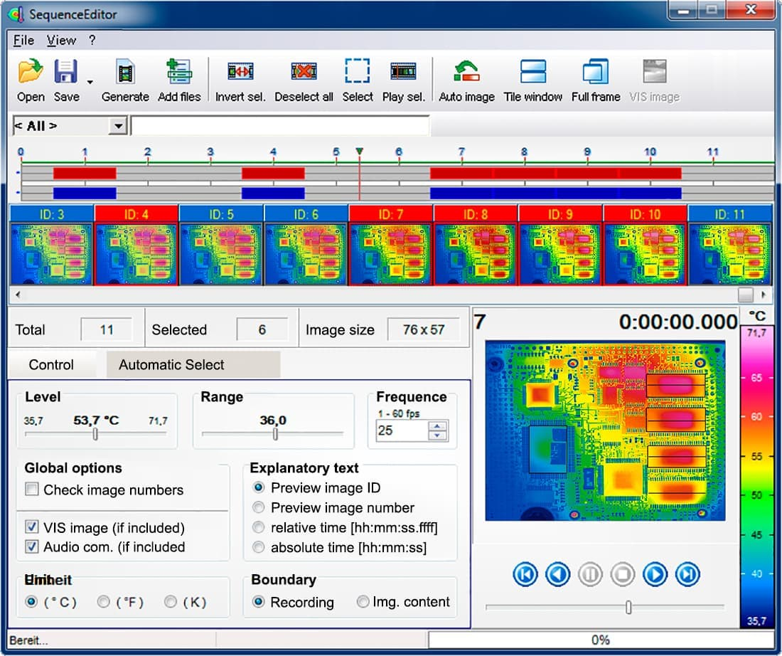 Thermographic Software IRBIS® 3 - Sequence Editor