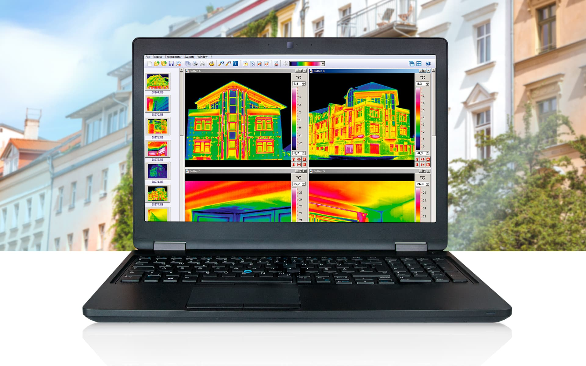 Thermographic Software FORNAX 2 from InfraTec - Picture Credits: © iStock.com / nikada