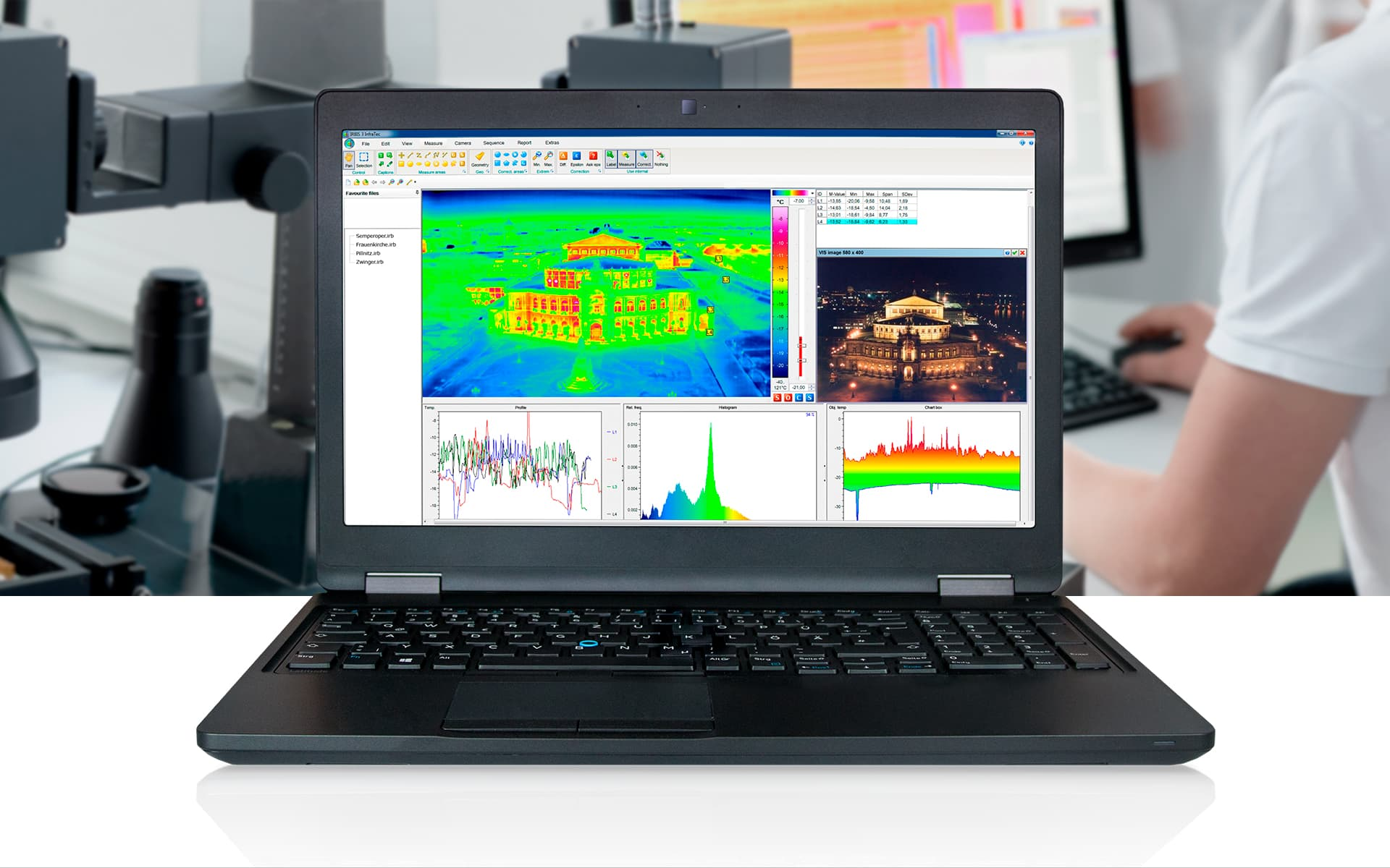Thermal imaging software IRBIS 3 from InfraTec